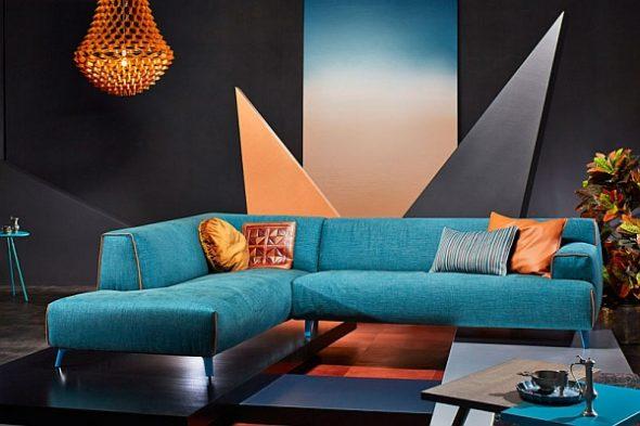 бирюзовый диван модерн