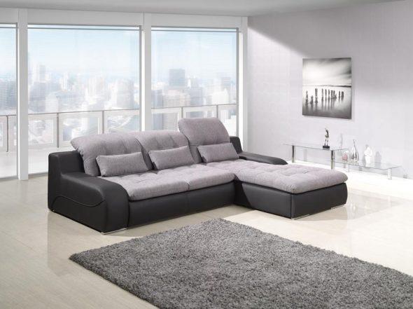 большой угловой диван в комнату