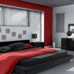 двуспальная кровать черно красная