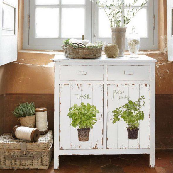 декупаж кухонных шкафов в стиле прованс