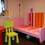 детская кровать икеа розовая