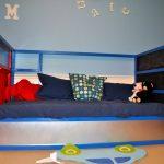 детская кровать икеа синяя