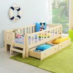 кровать детская с ящиками и бортиком