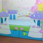 кровать с бортиками для детей