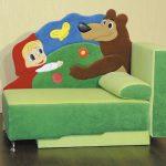 детский диван маша и медведь