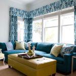 диван бирюзовый современная гостиная