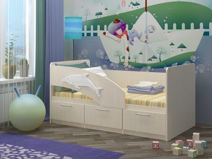 дизайн кровати дельфин