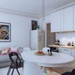 диван на кухне серый