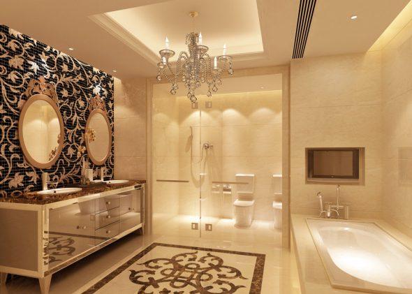 зеркало в ванной ампир
