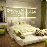 двуспальная кровать салатовый дизайн