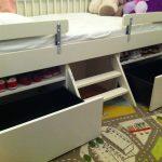 детская кровать с бортиками икеа
