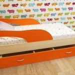 кровать дельфин оранжевая