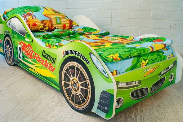 кровать бельмарко зеленая