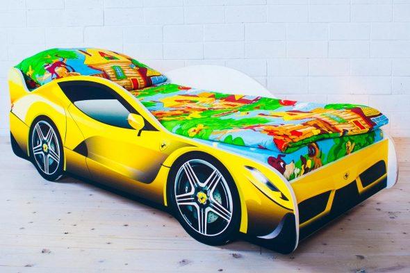 кровать бельмарко желтая