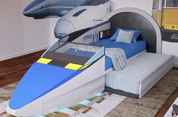 кровать детская самолет
