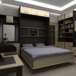 кровать подъемная в спальне