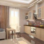 кухня с диваном светлая