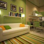 кухня с диваном удобная