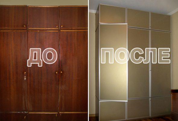отреставрировать большой старый шкаф в домашних условиях