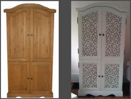 отреставрировать старый шкаф для одежды в домашних условиях
