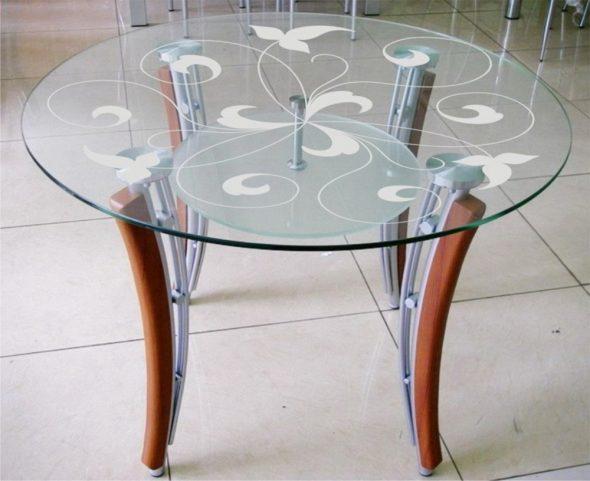 сделать стеклянный стол