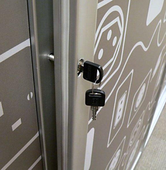 шкаф-купе с замком