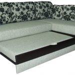 современный угловой диван с механизмом дельфин