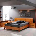 двуспальная кровать современный интерьер