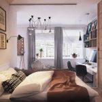 светлая мебель в стильной спальне