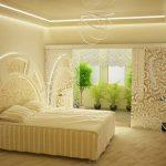 двуспальная кровать ванильный дизайн