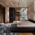 двуспальная кровать темная