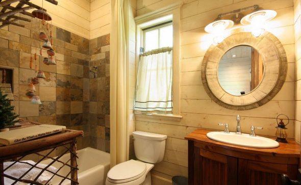 зеркало в ванной кантри