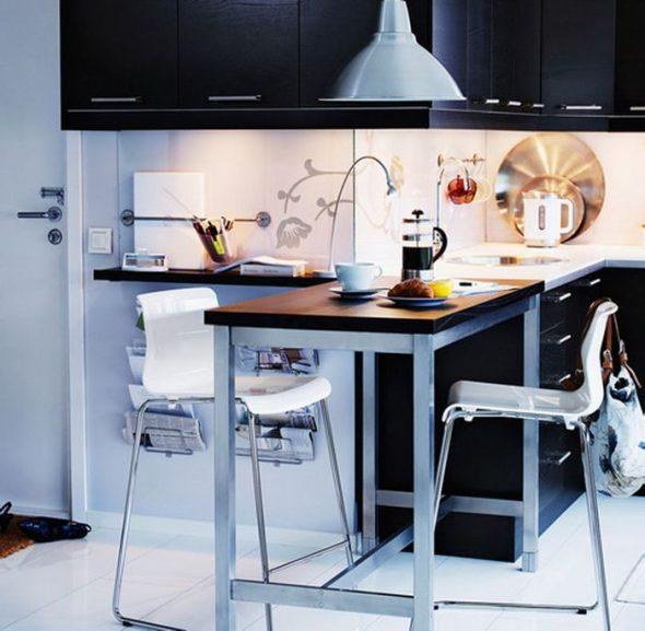 выдвижной стол для тесной кухни