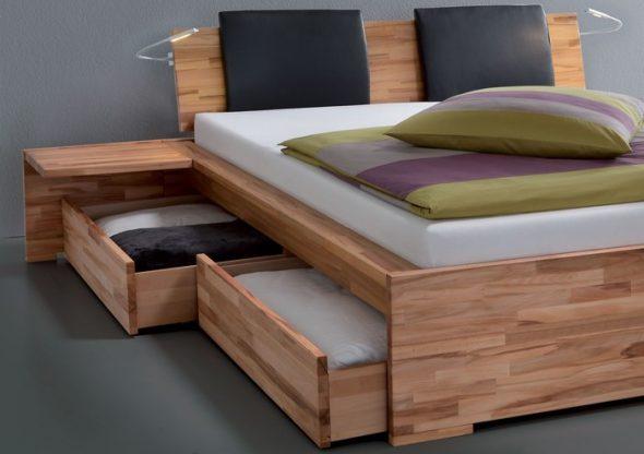 выдвижные ящики у кровати