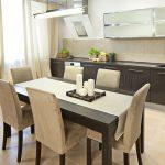 высота кухонного стола в интерьере
