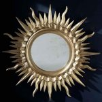 зеркало круглое багет в виде солнца