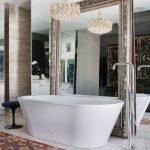 зеркало в ванной большое