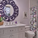 зеркало в ванной фиолетовая рама