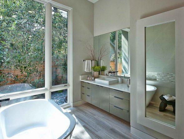 зеркало в ванной размер
