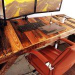 Большой компьютерный стол из поддонов своими руками