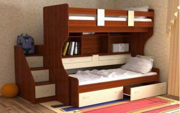 Детская двухъярусная кровать Дуэт-4