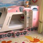 Детская двухъярусная кровать Паровозик