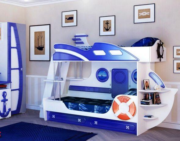 Детские кроватки для мальчиков в морском стиле