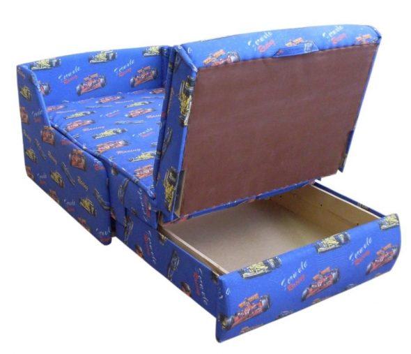 Детское кресло кровать без подлокотников