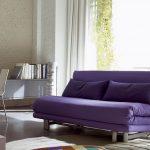 Диван кровать фиолетового цвета