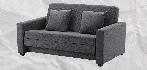 Диван-кровать икеа темно-серого цвета