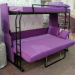 Диван трансформер в двухъярусную кровать с 3-мя спальными местами