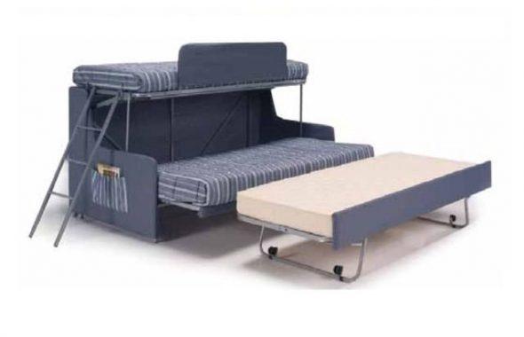 Диван трансформер в двухъярусную трехспальную кровать