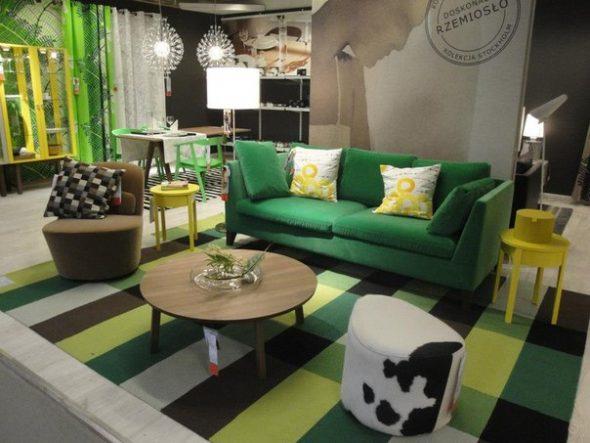 диван зеленый