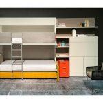 Двухъярусная кровать-трансформер для детской комнаты в стиле минимализм
